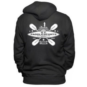 OC Paddlesports - black sweatshirt, white logo